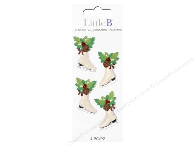 Little B Sticker Mini Christmas Ice Skate