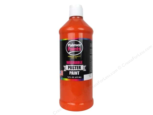 Palmer Washable Poster Paint 16 oz. Orange