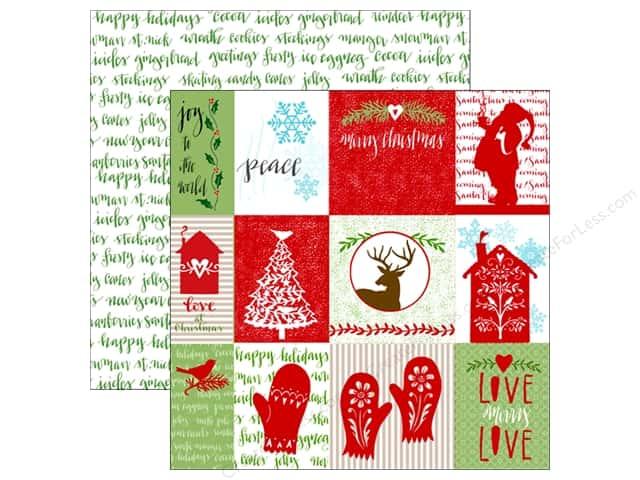 Paper House Collection Home For Christmas Paper 12x12 Tag (15 sheets)