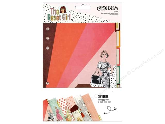 Simple Stories Collection Carpe Diem Reset Girl Dividers
