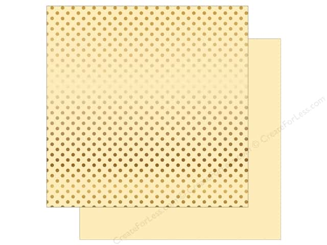 Echo Park 12 x 12 in. Paper Dots & Stripes Autumn Gold Foil Cream (25 sheets)