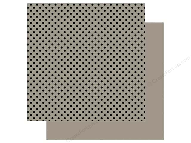 Echo Park 12 x 12 in. Paper Dots & Stripes Black Foil Grey (25 sheets)