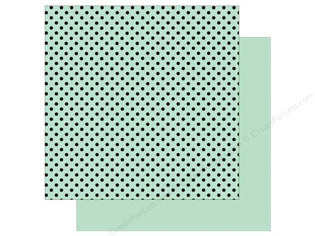 Echo Park 12 x 12 in. Paper Dots & Stripes Black Foil Mint (25 sheets)