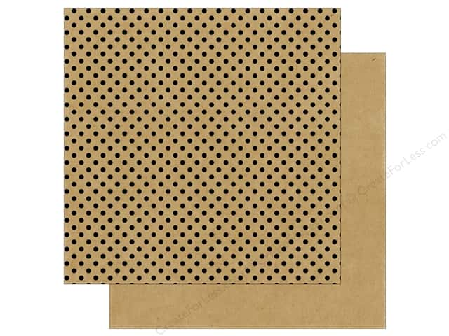 Echo Park 12 x 12 in. Paper Dots & Stripes Black Foil Kraft (25 sheets)