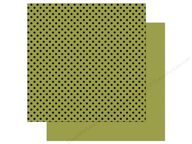 Echo Park 12 x 12 in. Paper Dots & Stripes Black Foil Green (25 sheets)