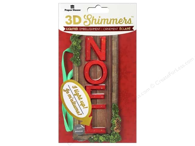 Paper House Sticker 3D LED Shimmer Noel