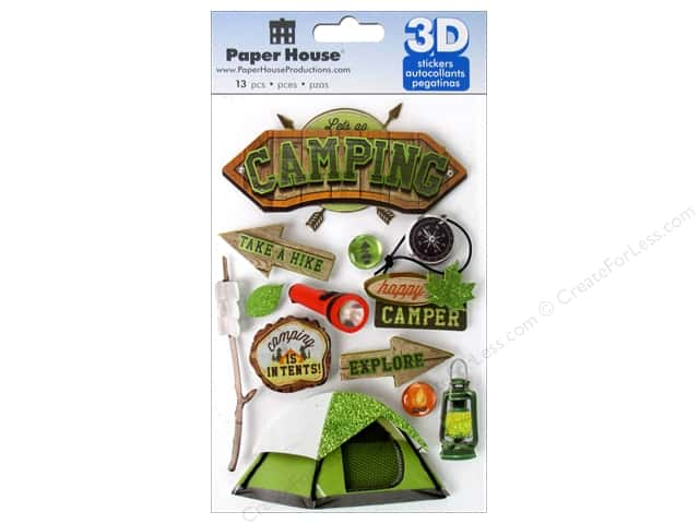 Paper House Sticker 3D Camping