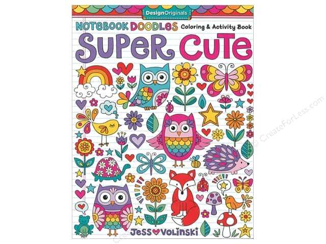 Design Originals Super Cute Coloring And Activity Book
