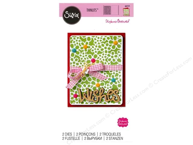 Sizzix Thinlits Die Set 2 pc. Flower Power