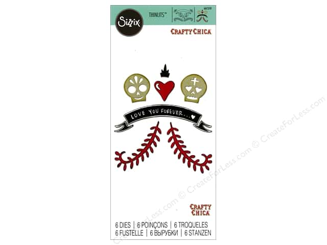 Sizzix Thinlits Die Set 6 pc. Day Of The Dead Couple In Love