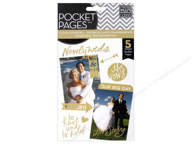 Me&My Big Ideas Sticker Pocket Pages Wedding Day