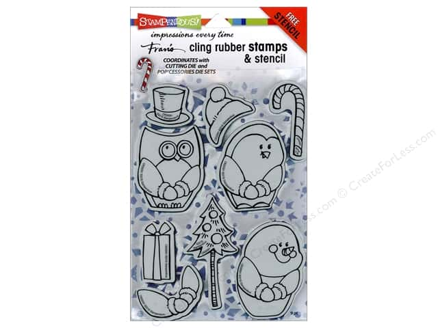 Stampendous Cling Rubber Stamp Winter Friends