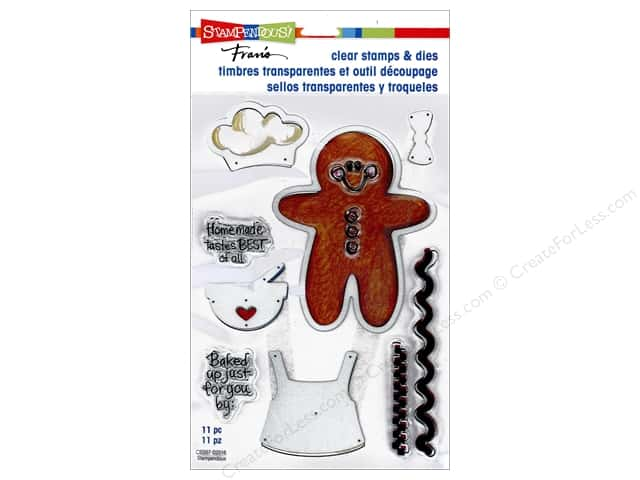 Stampendous Clear Stamps & Die Gingerbread Baker