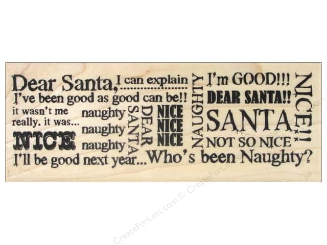 Stampendous Wood Stamp Santa Words