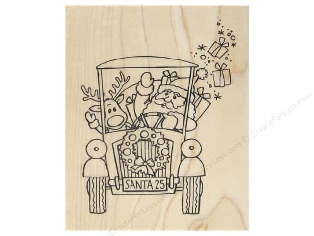 Stampendous Wood Stamp Santa's Pick Up