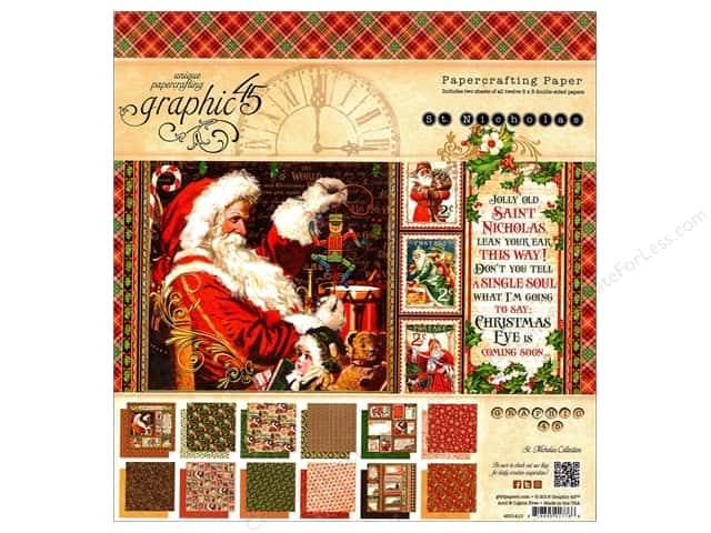 Graphic 45 8 x 8 in. Paper Pad St Nicholas