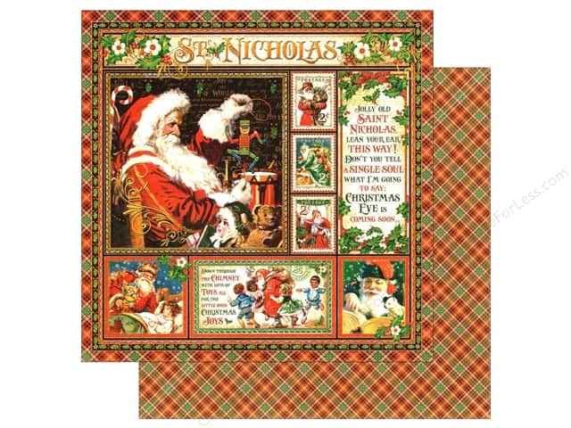 Graphic 45 12 x 12 in. Paper St Nicholas (25 sheets)