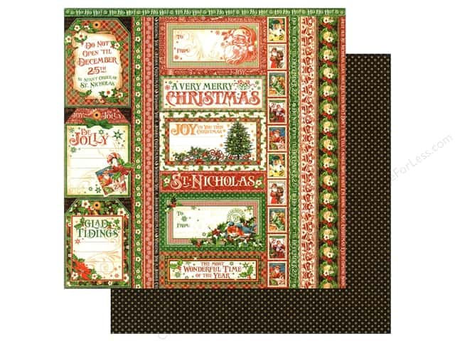 Graphic 45 12 x 12 in. Paper St Nicholas Seasons Greeting (25 sheets)