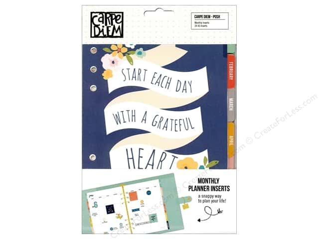 Simple Stories Collection Carpe Diem Posh Monthly Inserts