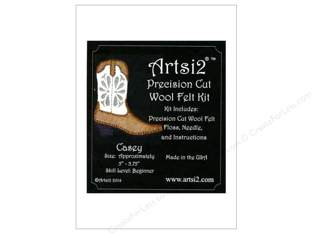 Artsi2 Precision Cut Wool Felt Kit Cowboy Boot Casey