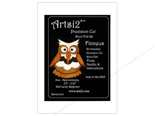 Artsi2 Precision Cut Wood Felt Kit Finneus Owl
