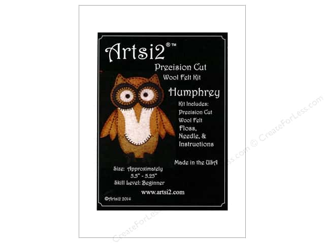 Artsi2 Precision Cut Wool Felt Kit Humphrey Owl