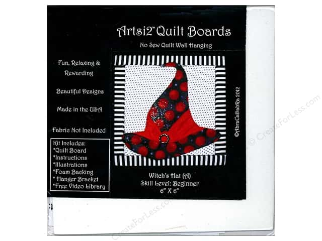 Artsi2 Quilt Board No Sew Quilt Wall Hanging Kit 6 x 6 in. Witch's Hat