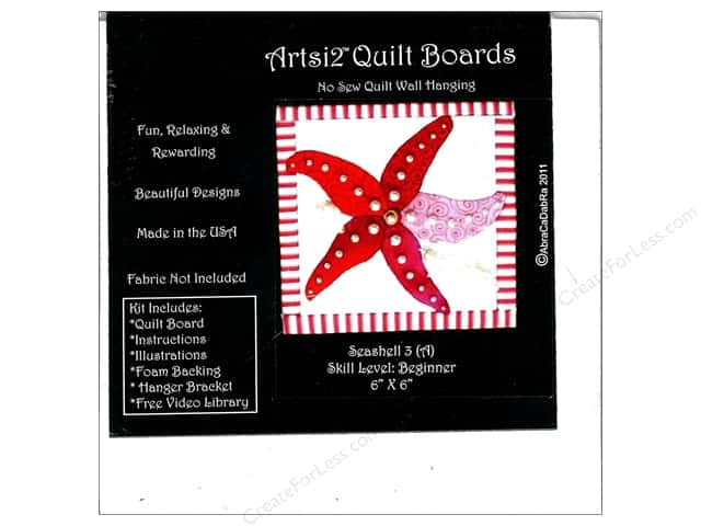 Artsi2 Quilt Board No Sew Quilt Wall Hanging Kit 6 x 6 in. Seashell #3