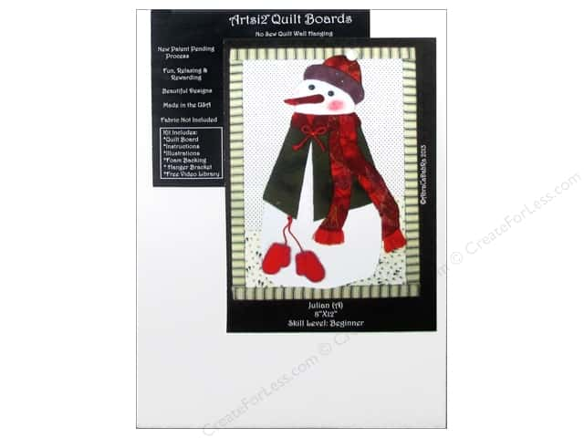 Artsi2 Quilt Board No Sew Quilt Wall Hanging Kit 8 x 12 in. Julian