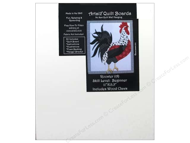 Artsi2 Quilt Board No Sew Quilt Wall Hanging Kit 11 x 13 1/2 in. Rooster