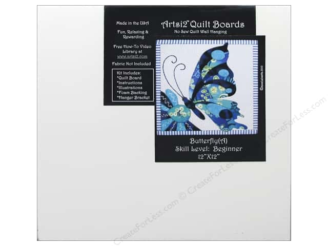 Artsi2 Quilt Board No Sew Quilt Wall Hanging Kit 12 x 12 in. Butterfly