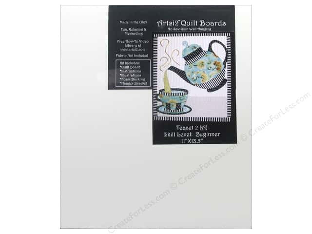 Artsi2 Quilt Board No Sew Quilt Wall Hanging Kit 11 x 13 1/2 in. Teaset #2