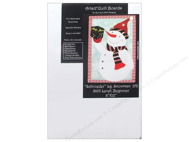 Artsi2 Quilt Board No Sew Quilt Wall Hanging Kit 8 x 12 in. Snowman Schroeder Large