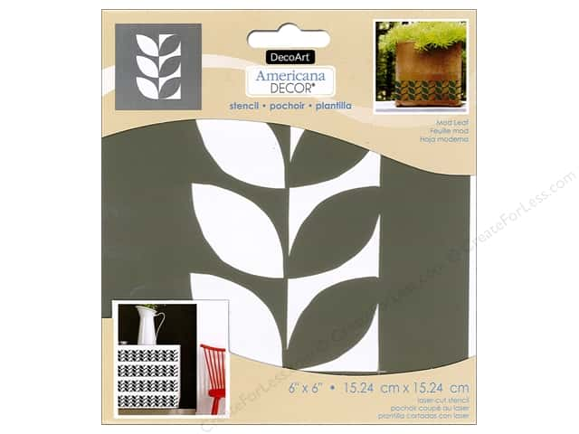 DecoArt Americana Decor Stencil 6 x 6 in. Mod Leaf