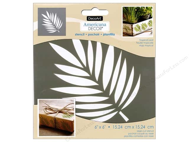 DecoArt Americana Decor Stencil 6 x 6 in. Tropical Leaf