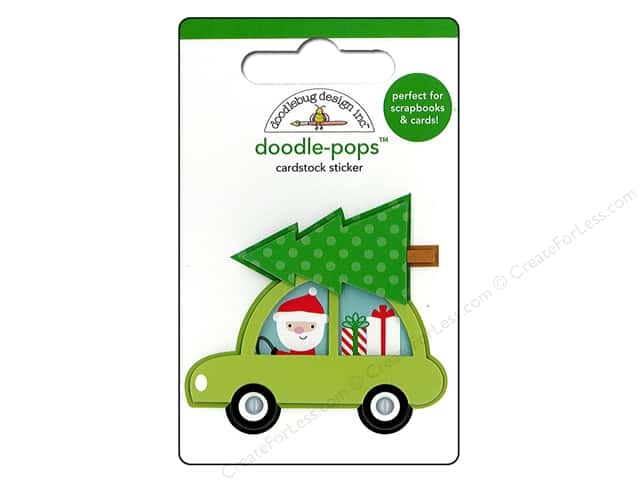 Doodlebug Doodle-Pops 3-D Stickers Here Comes Santa Claus Special Delivery