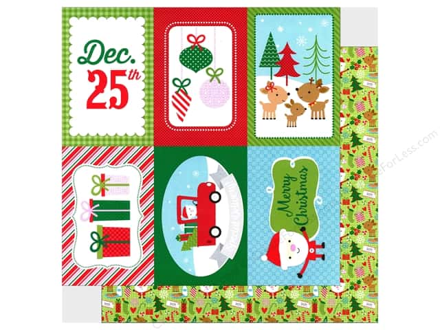 Doodlebug 12 x 12 in. Paper Here Comes Santa Claus (25 sheets)
