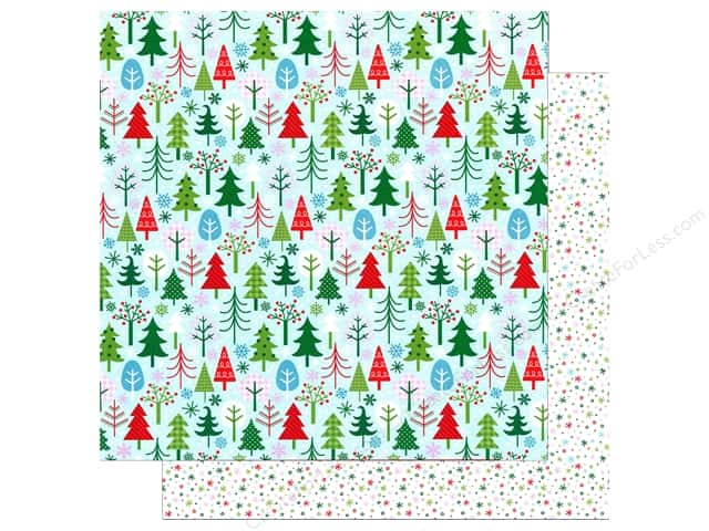 Doodlebug 12 x 12 in. Paper Here Comes Santa Claus Tis The Season (25 sheets)