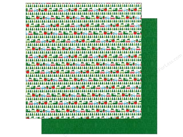 Doodlebug 12 x 12 in. Paper Here Comes Santa Claus Tree Lot (25 sheets)