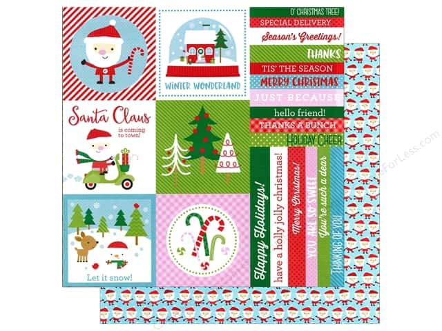 Doodlebug 12 x 12 in. Paper Here Comes Santa Claus Celebration (25 sheets)
