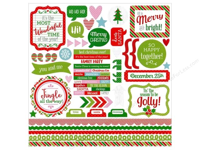 Doodlebug Sticker Here Comes Santa Claus This & That