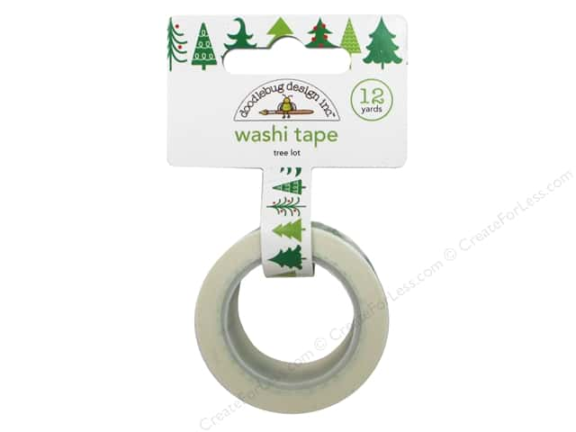 Doodlebug Washi Tape 5/8 in. x 12 yd. Tree Lot