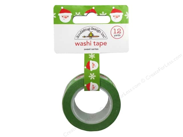 Doodlebug Washi Tape 5/8 in. x 12 yd. Sweet Santas