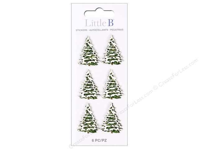 Little B Sticker Mini Snow Covered Trees