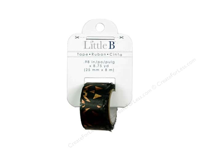 Little B Decorative Paper Tape 1 in. Orange Foil Jack-O-Lantern