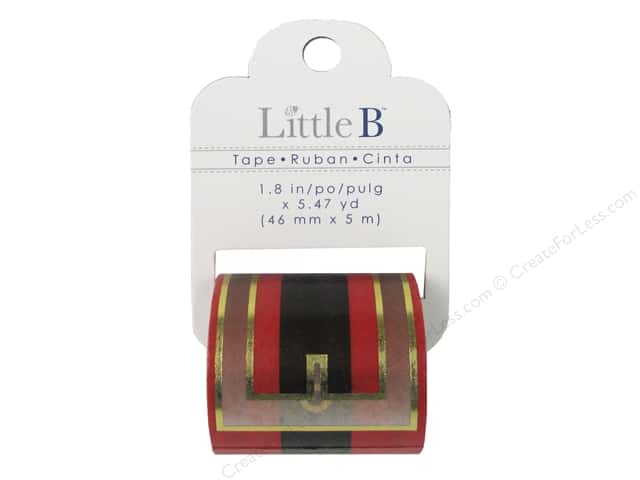 Little B Decorative Paper Tape 1 3/4 in. Gold Foil Santa Belt