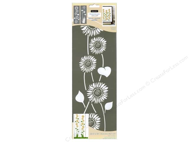 DecoArt Americana Decor Stencil 6 x 18 in. Sunflowers