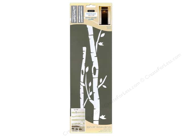 DecoArt Americana Decor Stencil 6 x 18 in. Birch Trees