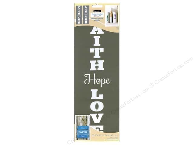 DecoArt Americana Decor Stencil 6 x 18 in. Faith