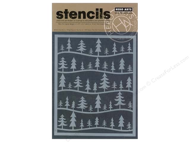 "Hero Arts Stencil 5.25""x 6.5"" Forest Scene"